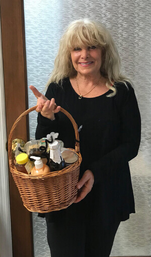 gail receives patient appreciation gift basket