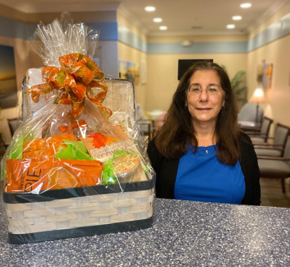 wendy receives patient appreciation basket